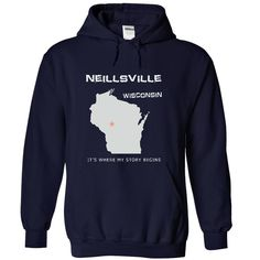 Neillsville - ღ ღ WISYou were born in Neillsville, Wisconsin. This shirt is for you.Neillsville wisconsin