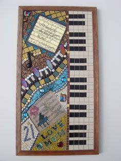 piano wall art   ... more items in wall decorations mosaic musical wall art made to order