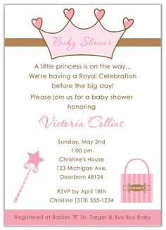 Free baby shower templates by royal decree baby shower invitation princess baby shower invitations 100 each httpfestivityfavors filmwisefo