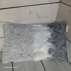 Unique pillow wool felt B by puurenuniek on Etsy