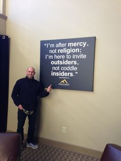 Highlands Church welcomes partitioners with printed canvas signs!  #CummingGA #ChurchSigns