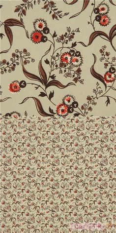 """light olive green cotton lawn fabric with flowers, leaves, Material: 100% cotton, Fabric Type: light cotton fabric, Pattern Repeat: ca. 10cm (3.9"""") #Cotton #Flower #Leaf #Plants #USAFabrics"""