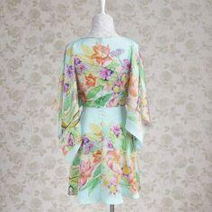 Slit-Shoulder Floral Dress - Dabuwawa | YESSTYLE