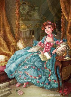 Tseumpfeuh de Pompadour by HollyBell on DeviantArt Disney Pixar, Disney Fan Art, Disney And Dreamworks, Cute Disney, Disney Dream, Disney Magic, Character Inspiration, Character Art, Character Design
