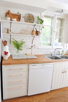 DIY Modern Wood Cabinet Pulls | A New Bloom Kitchen