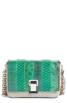 Proenza Schouler 'Small Courier' Genuine Snakeskin & Canvas Crossbody Bag available at #Nordstrom