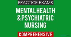 Psychiatric Nursing Exam Questions 1 (25 Items) - Nurseslabs