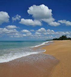 Bright sunny day at Nai Yang Beach (Hat Nai Yang National Park) หาดในยาง Phuket Thailand  (high resolution)