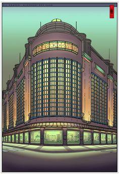 BIJENKORF The Hague Netherlands: Architect: P.L. Kramer by joost veerkamp
