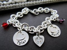 Mothers Day Gift Mother's Bracelet Personalized by ShinyMetals, $68.00