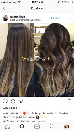 hair highlights 29 Ideas Hair Color Californianas Posts For 2019 Hair Color Balayage, Hair Highlights, Bayalage, Balayage Hair Brunette Straight, Hair Color And Cut, Hair Painting, Hair Dos, Gorgeous Hair, Dark Hair