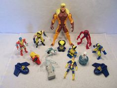 Lot of Marvel X-Men wolverine sabretooth storm colossus figure toys A USED #MarvelToys
