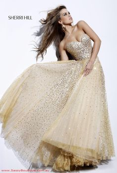 ~ gold bridesmaid dress ~