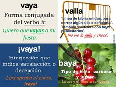 Tips de ortograf a on pinterest spanish words spanish - Vaya o valla ...