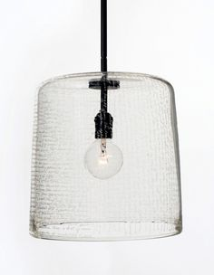 Alison Berger handblown leaded crystal Word pendant with hand etching, £6,575
