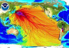Radioaktive Wasserblase aus Fukushima..