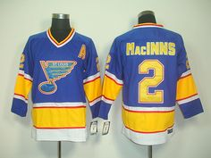 CCM St. Louis Blues 2 AI MaCINNS ThrowBack Jersey