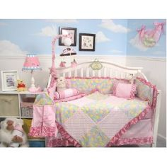 SoHo Minky Coral Reef Chenille Baby Crib Nursery Bedding Set 13 pcs included Diaper Bag with Changing Pad & Bottle Case