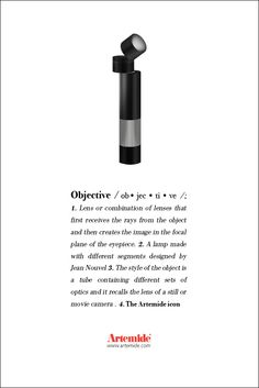 Discover the #Objective table lamp and its incredible #design by Jean Nouvel #ArtemideDictionary