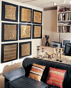Lifestyle: Out of Africa -- In their waterside home, a New York couple showcases a passion for African art that has seeded two world-class collections by Gladys Montgomery with photography by J. Furniture Market, Cheap Furniture, Discount Furniture, Furniture Nyc, African Interior, African Home Decor, Style Africain, Art Africain, African Room
