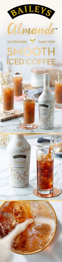 Keep your cool all summer long with Iced Coffee and Baileys Almande. This delicious light-tasting almondmilk liqueur is dairy free, gluten free, and vegan!  Simply mix 2 oz Baileys Almande with 1 oz Gevalia Cold Brew and shake over ice. Top it off with chocolate shavings or nutmeg.