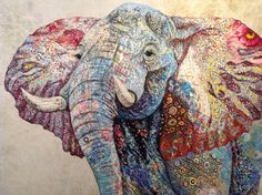 Elusive Muse features the work of textile artist Sophie Standing