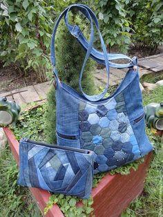 Женские сумки ручной работы. Сумка Понедельник джинс. Тера. Текстильная…