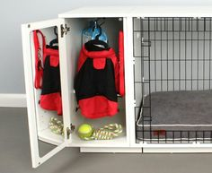 Dog Crate with built in storage