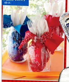 Mason jar idea could be any color, any theme.                                                                                                                                                      More