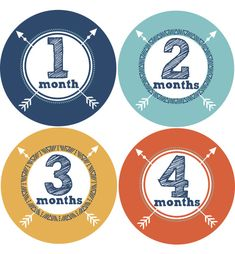 Tribal Arrow Baby Month Stickers