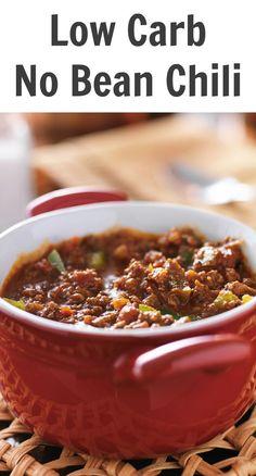 Low Carb No Bean Chili Recipe Chilli Recipes, Best Chili Recipe, Low Carb Chili