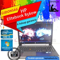 "HP Elitebook 8560w üzleti és gamer laptop, Intel Core i5-2540M, dual vga, 4 GB RAM, 500 GB HDD, webkamera, Windows 7 Pro, 15,6"" FullHD LED kijelző  Akciós ár: 92 700.- Ft"