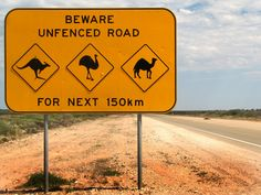 Australian animal warning sign