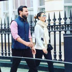 Nawab of Pataudi Saif Ali Khan and Begum Kareena Kapoor Khan in London
