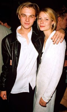 Gwyneth Paltrow And Leonardo DiCaprio At 'The Pallbearer' Premeire, 1996