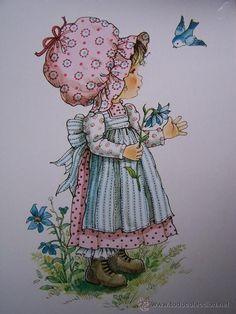 mary may art Holly Hobbie, Vintage Cards, Vintage Images, Illustrator, May Arts, Decoupage Vintage, Cute Illustration, Bird Art, Belle Photo