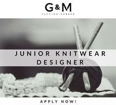 Our Spanish-based international client are looking for an Jr #Knitwear #Designer to join the design team at their headquarters, producing Knitwear collections for #womenswear. Interested? Send your CV to info@gm-fashioncareer.com  #fashionjobs #luxury #career #careergoals #goals #jobs #recruitment #instafashion #fashioncareer #sendyourcv #knitting #knit #fall #winter