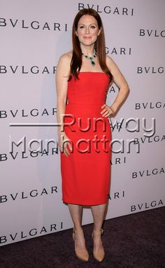 Julianne Moore arriving at the BVLGARI Celebrates Elizabeth Taylor BVLGARI Jewels in Beverly Hills, California - Feb 19, 2013 - Photo: Runway Manhattan/Bauer-Griffin