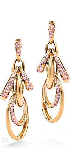 de Grisogono rose gold and pink sapphire CATENE earrings   LBV ♥✤   BeStayBeautiful