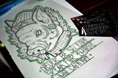 Vegan 269 tattoo design - PIG - Martin Tattooer Zincik - Czech tattoo artist , Tetování Chrudim