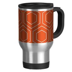 Orange Geometric Pattern Coffee Mug