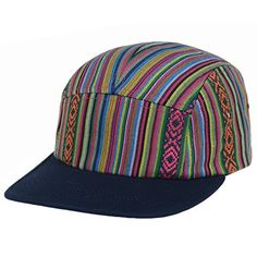 45a9809b8ec GP Accessories Men s Aztec Stripe 5 Panel Hat Camp Cap Navy Orange at Amazon  Men s Clothing store