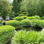 Outdoor & Garden, Lovely Garden Design Ideas With White Outdoor Chairs: Inviting Garden Design Ideas for Home Backyard