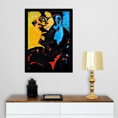 George Michael - Vibrations Mixed Media Modern Art On Large Paper - In-context view (home interior)
