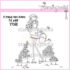 Stamping Bella Rubber Stamp - Uptown Girl Pippa Loves To Plant