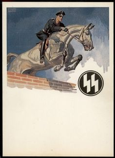 Click to view 3rd Reich Germany Waffen SS Reiter Propaganda Postcard