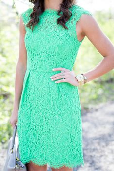 Mint green + lace = need please