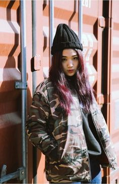 (80) jo eun hee | Tumblr Lee Sung Kyung, Korean Street Fashion, Busan, Pretty People, Seoul, Asian Beauty, Singers, Bomber Jacket, Punk