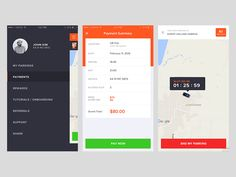 Parking Christ College, Parking App, Ui Design, User Interface Design