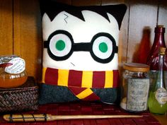 Harry Potter pillow, plush, decoration inspired by Harry Potter. $27.00, via Etsy.